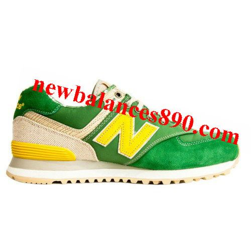 New Balance ML574OST Surfer Pack Aloha Summer Beach Yellow Khaki Green  women shoes