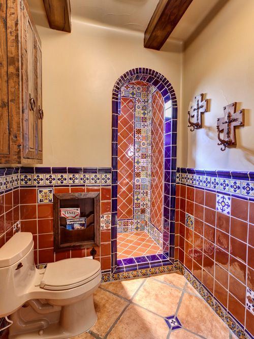 Mexican Tiles In A Bathroom Spanish Style Bathrooms Mexican Tile Bathroom Spanish Bathroom