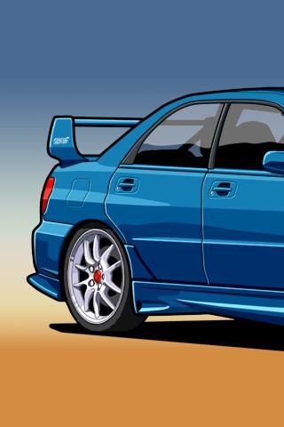 Subaru Impreza Wrx Sti Vector Android Wallpaper Hd Vektor Car