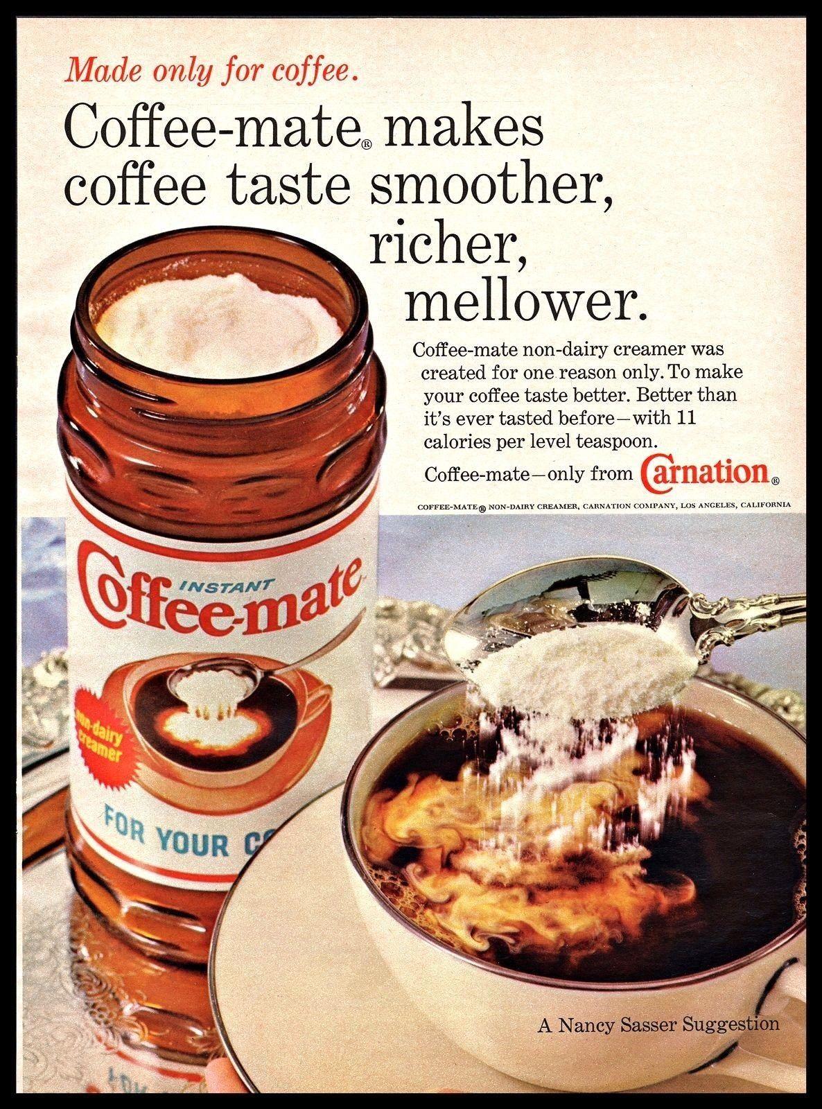 1969 Coffee Mate Magazine Advertisement Coffee Mate Vintage Ads Food Coffee Tastes Better