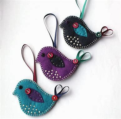 Image result for Handmade Felt Bird Ornament #feltbirds