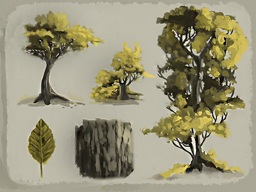 Trees (Concept drawing practice)