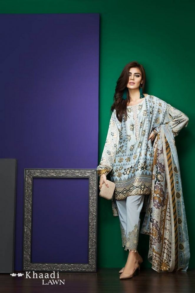 Khaadi Embroidered Lawn Vol 1 Collection 2017 Pakistan | Creative ...