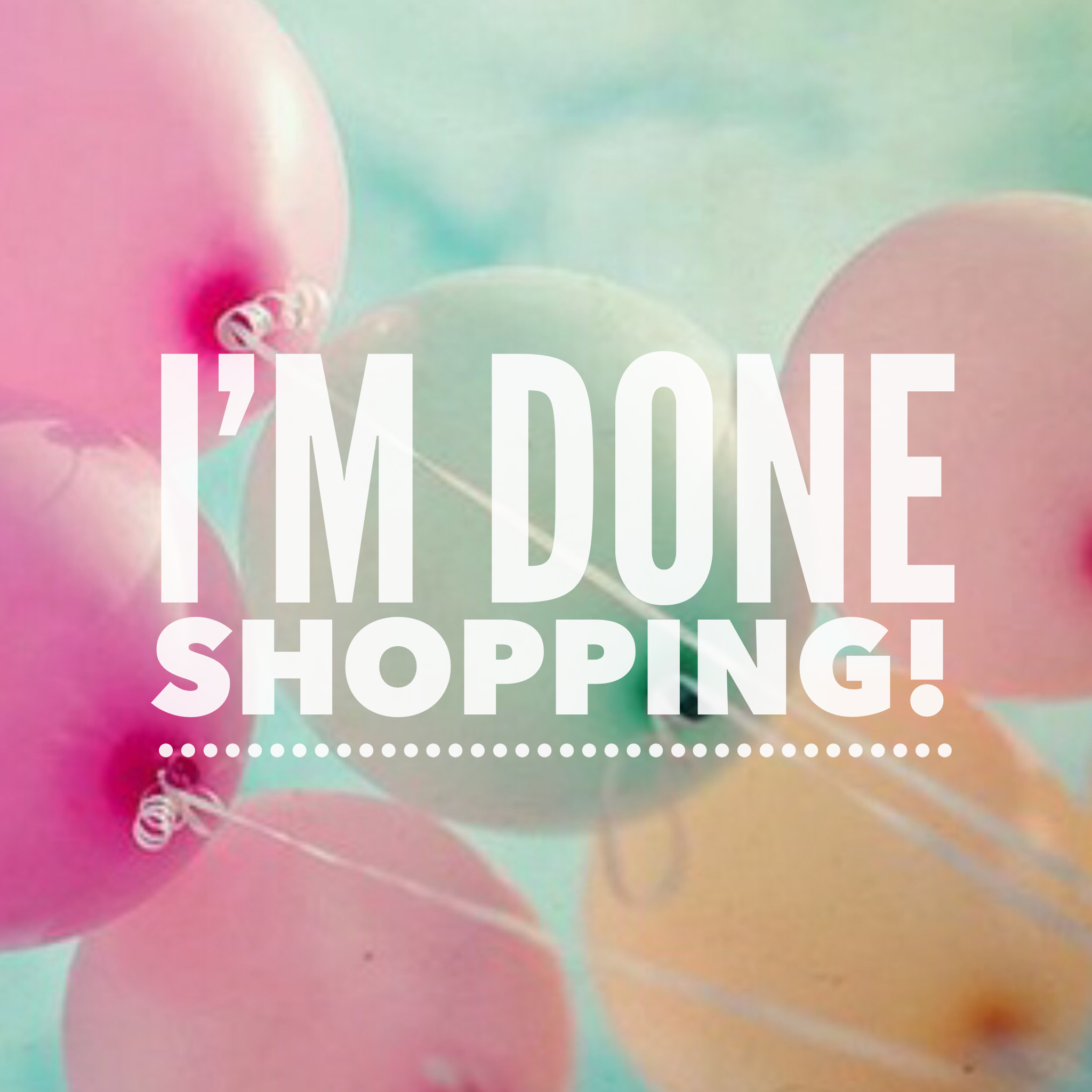 Image result for done shopping