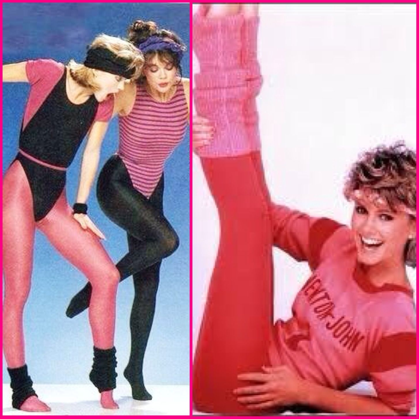 olivia newton john lets get physical workout clothes