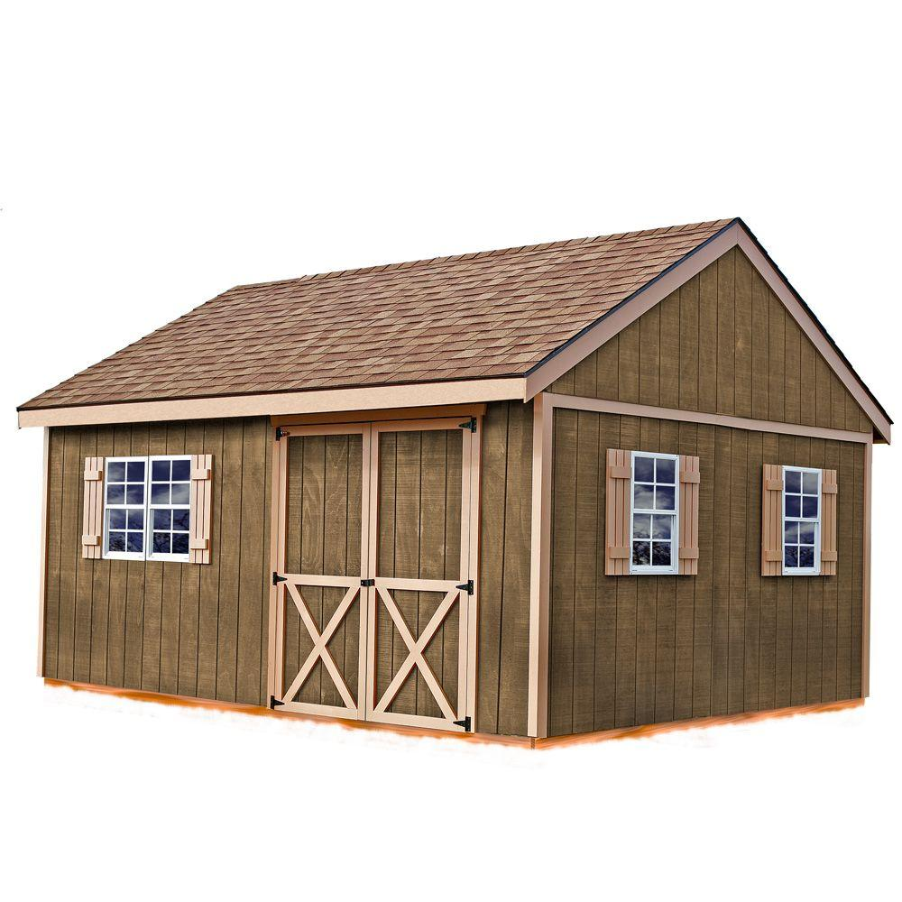 Best Barns New Castle 16 Ft X 12 Ft Wood Storage Shed Kit Newcastle 1612 The Home Depot Storage Shed Kits Storage Shed Plans Wood Shed Plans