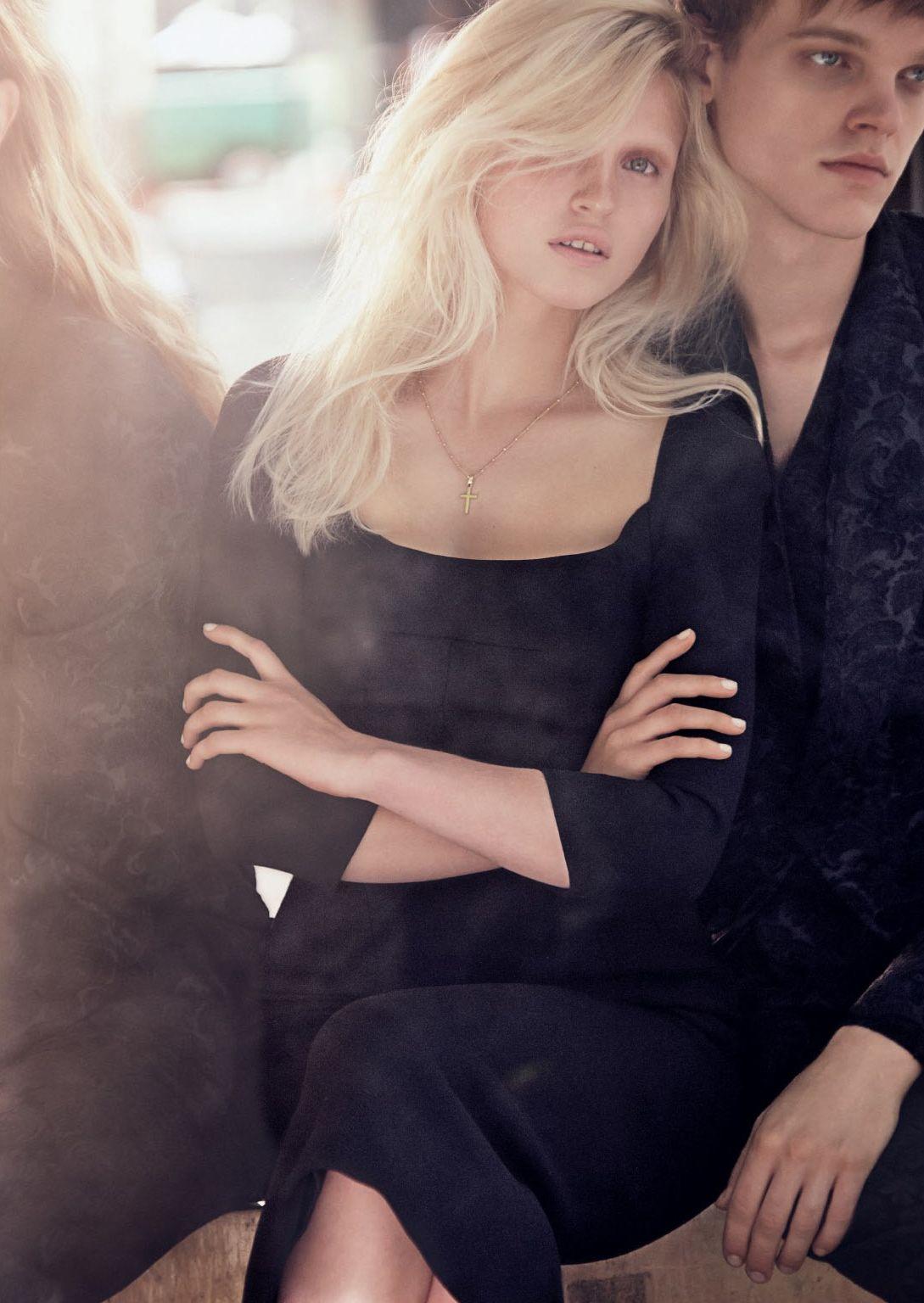 Kids From The Block: Anja Konstantinova, Kori Richardson, Odin Grina, Reid Rohling by Alexi Lubomirski for Vogue Russia August 2015 - Dolce&Gabbana Fall 2015