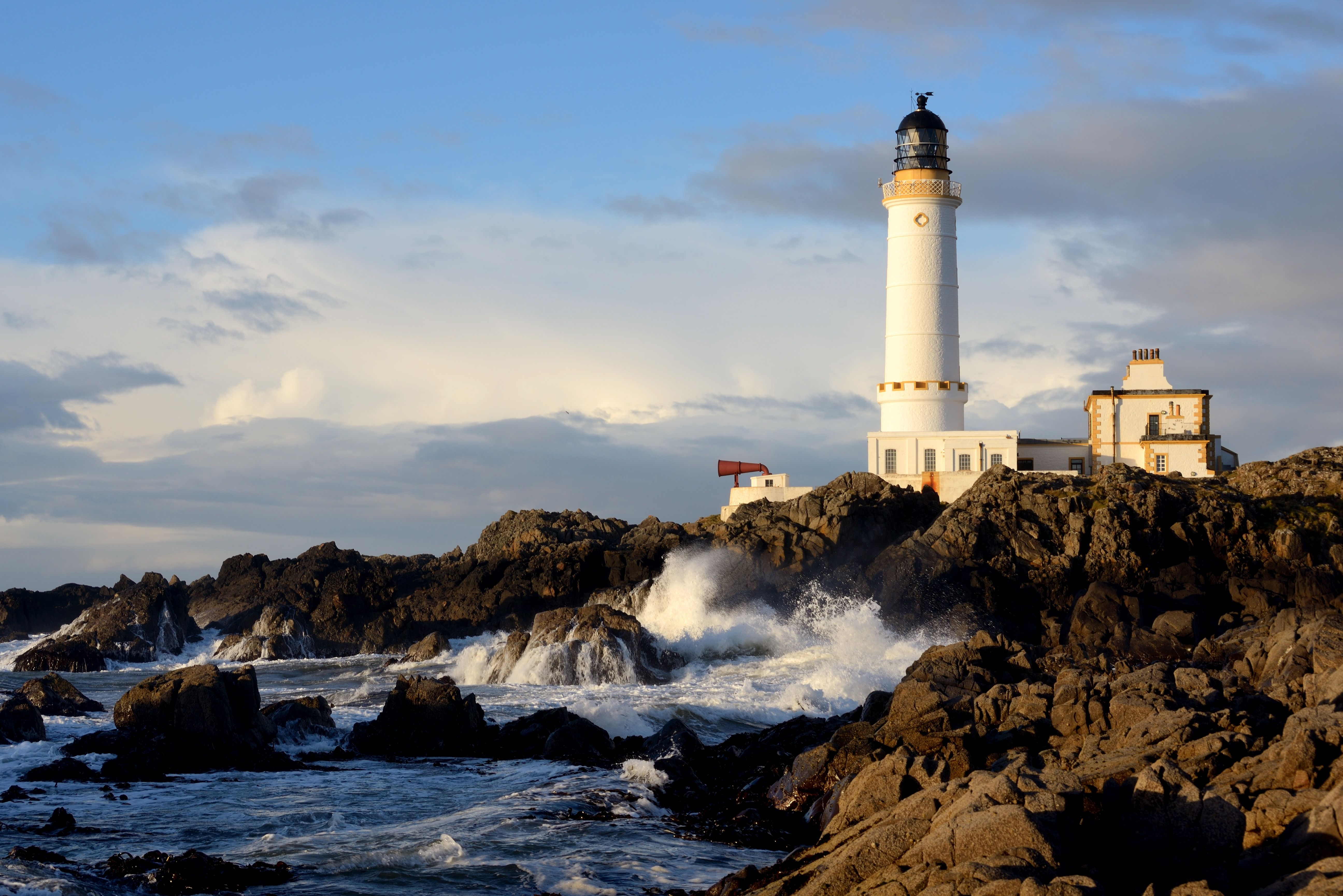 Download wallpaper lighthouse,  Scotland,  sky,  corsewall lighthouse galloway free desktop wallpaper in the resolution 5184x3460 — picture №511389
