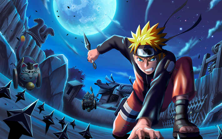 Download wallpapers 4k, Boruto Uzumaki, night, manga