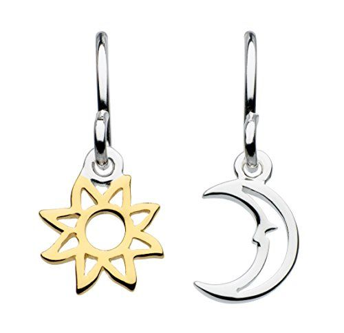 Dew Sterling Silver and Gold Plate Daisy Drop Earrings QgXK384DHS