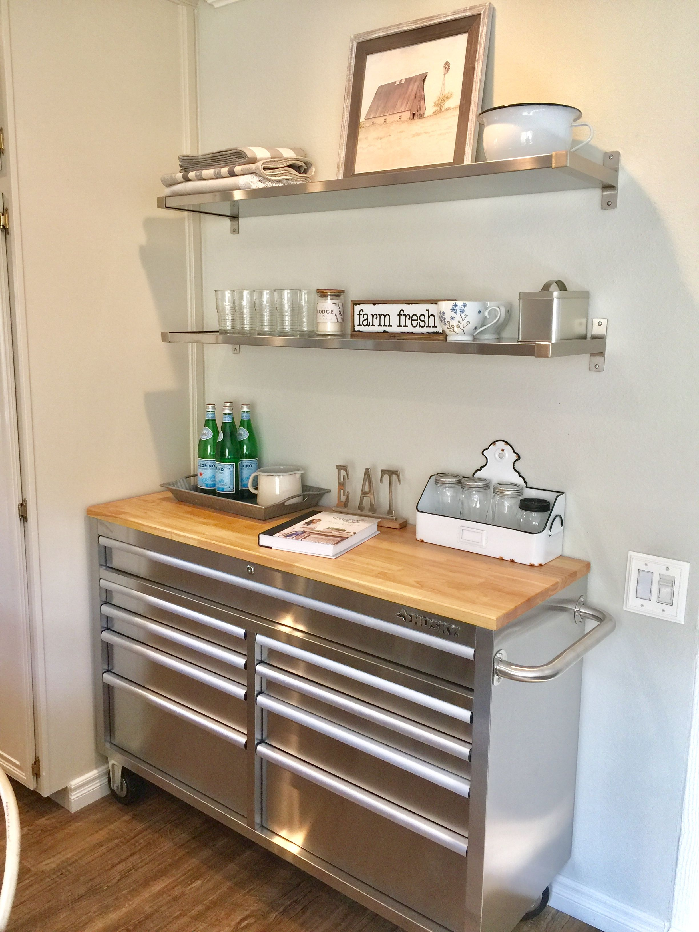 Kitchen Storage With A Husky Tool Chest Kitchen Storage Hacks Tool Chest Kitchen Remodel