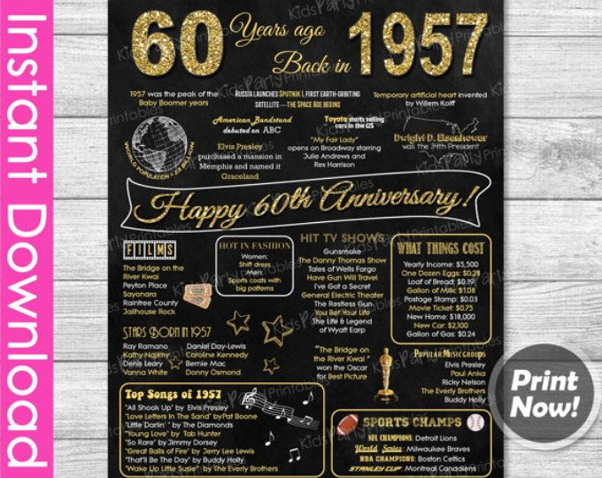 60th wedding anniversary ideas parents