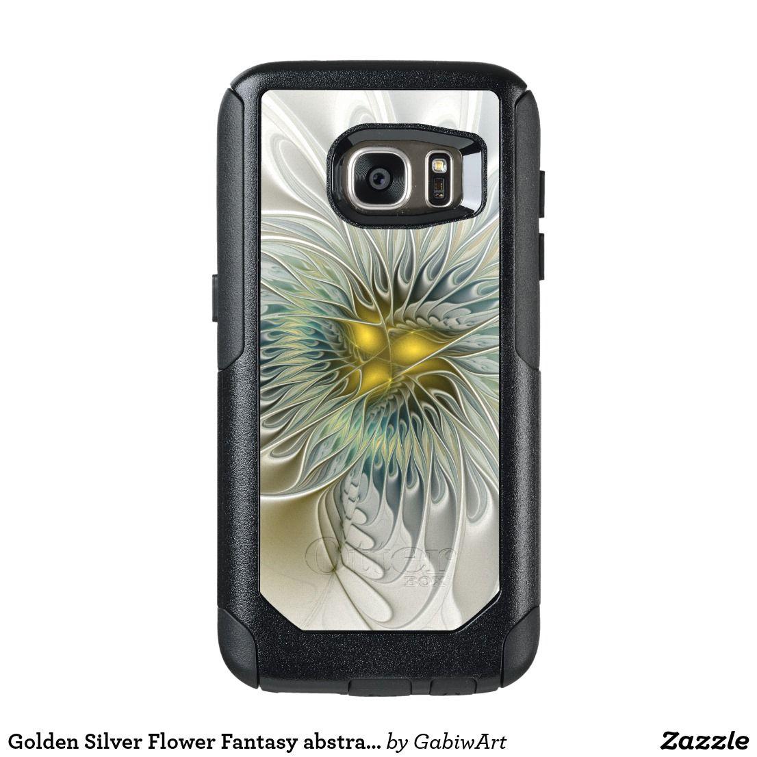 Golden Silver Flower Fantasy abstract Fractal Art OtterBox Samsung Galaxy S7 Case