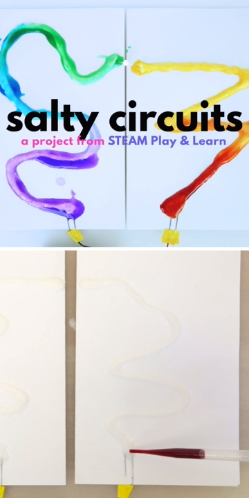 Salty Circuits: A Simple Circuit Project for Kids #lightemittingdiode