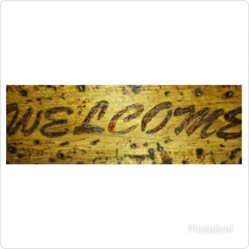 Welcome Woodburn home and wall decor - rustic Woodburn welcome ...