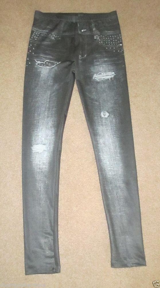 Monster High Jeggings Bling Size Large Printed Leggings look like jeans #MonsterHigh #LeggingsJeggings #Everyday