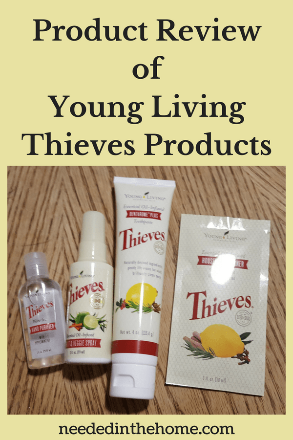 Product Review of Young Living Thieves Products Young