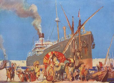 City of London passing through the Suez Canal made a fine advertisement for Ellerman's City Line in the Commercial year book of the Glasgow Chamber of Commerce & Manufactures in 1915.