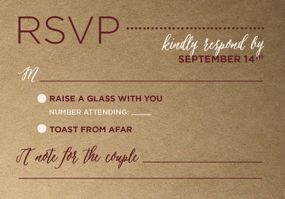 Rustic Wedding Invitation Suite Kraft Printable by AndisInvites