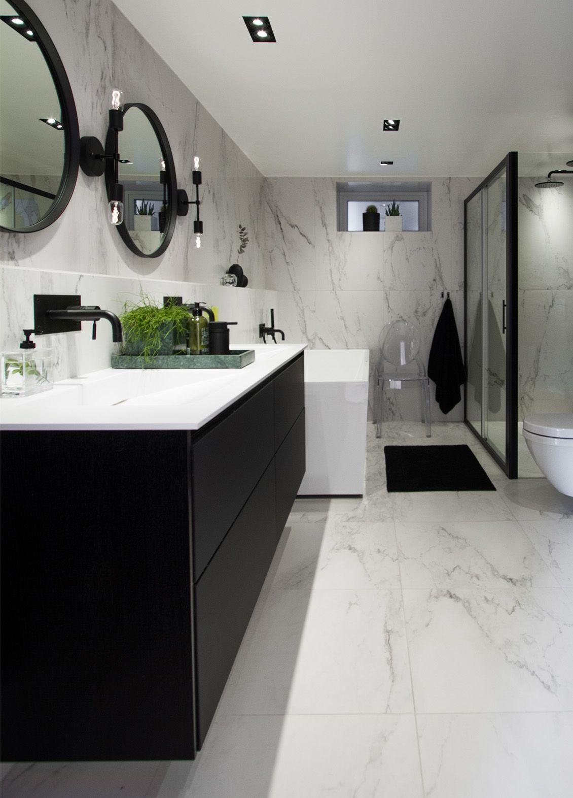 Photo of Dårlig inspirasjon – marmor og svart i en vakker forening – Bergersen Flis – Nye ideer