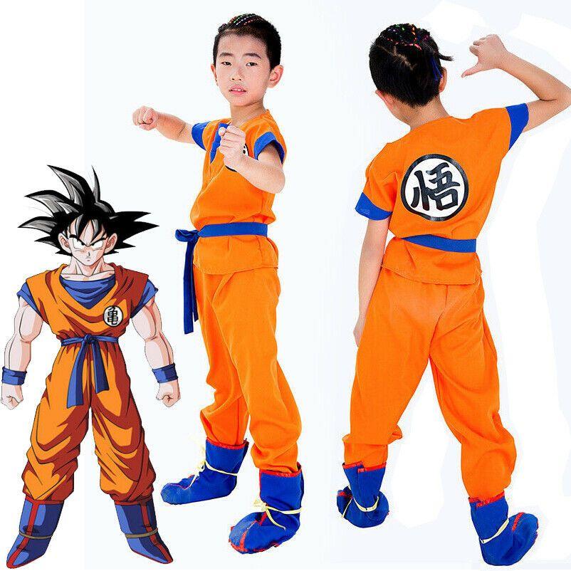 Dragon Ball Z Super Saiyan Goku Son Gokou Turtle senRu Anime Costume Cosplay Set