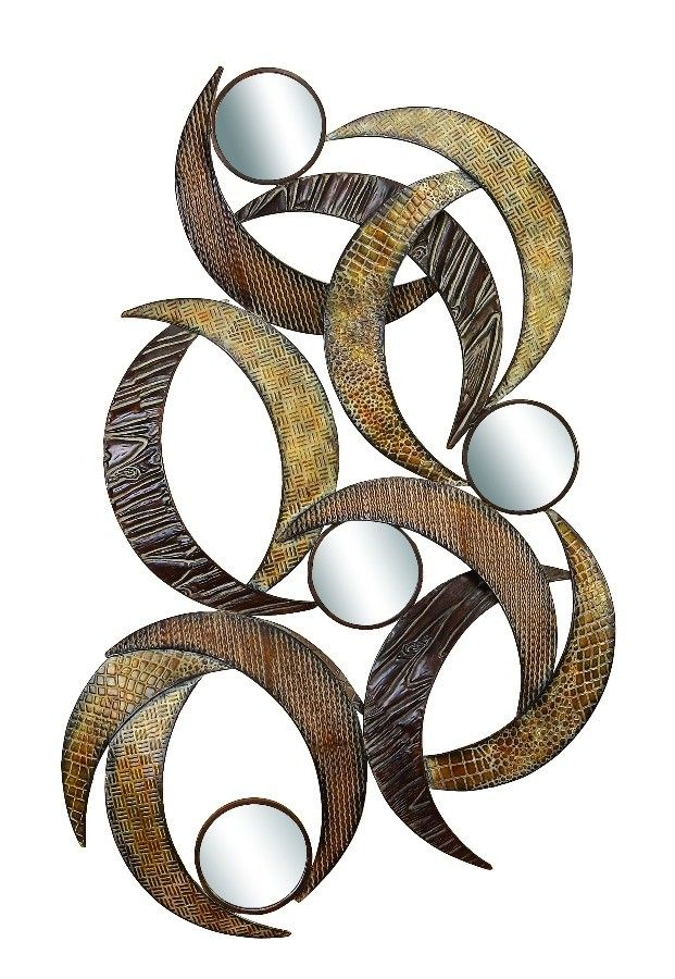 Abstract Art Crescent Moon Mirror Wall Art Bronze Gold D | Furniture, home decor, wall decor, rugs, lamps, lighting outlet.