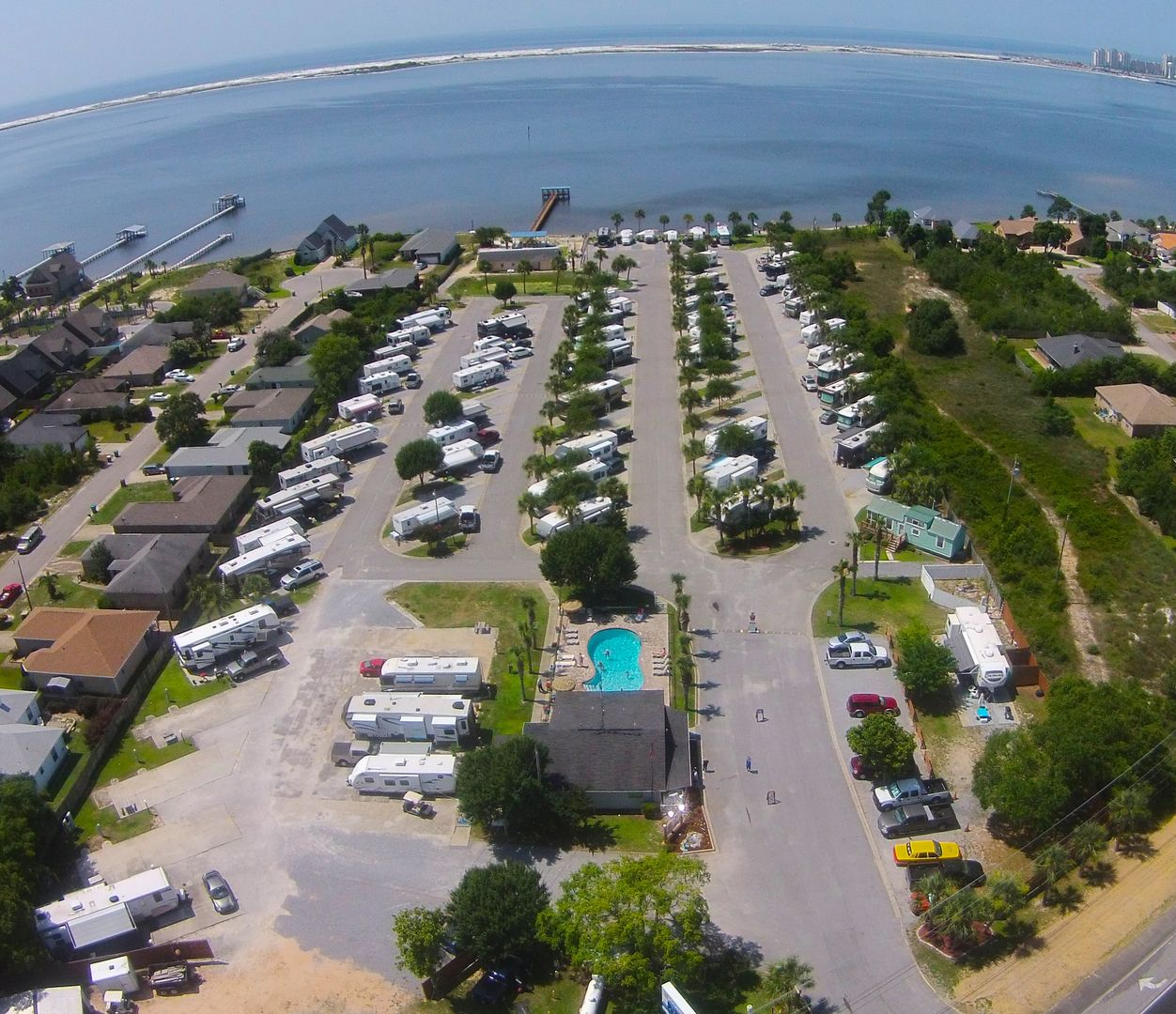 One Of The Top Rated Good Sam Rv Parks In Country Enjoy Our Private Beach On Sound Or A Mile Away Thrills Gulf