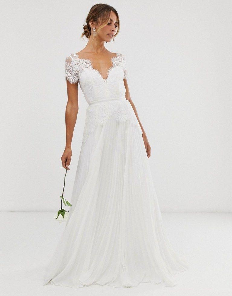 The Bridal Shop At Asos Wedding Dresses For Budget Brides In 2020 Wrap Wedding Dress Asos Wedding Dress Maxi Dress Wedding