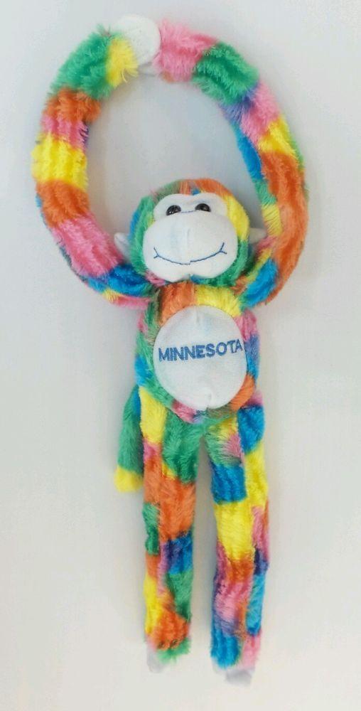 Fiesta Rainbow Monkey W Velcro Hands Plush 17 Stuffed Animal W