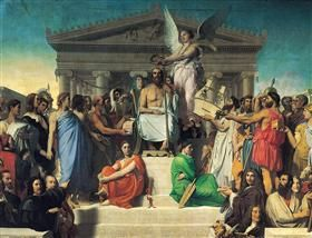 The Apotheosis Of Homer Jean Auguste Dominique Ingres With