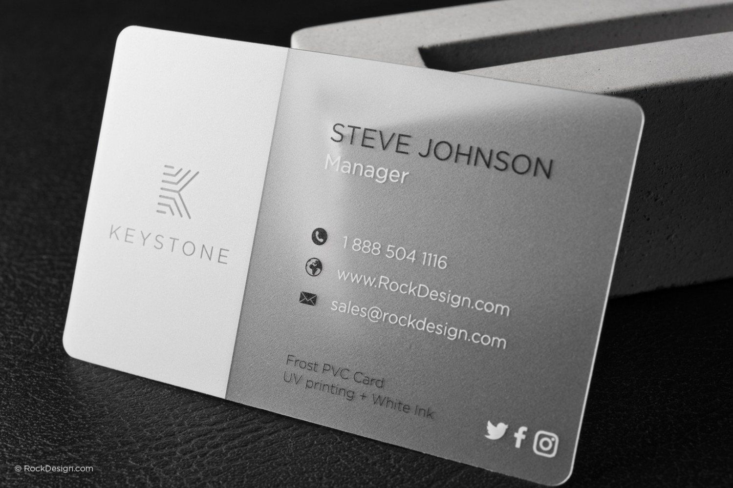 White Frosted Business Card Template 1 Clear Business Cards Printing Business Cards Plastic Business Cards