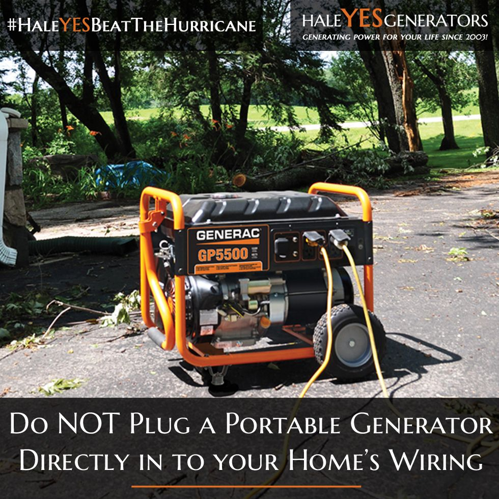 Never connect your portable generator directly to home
