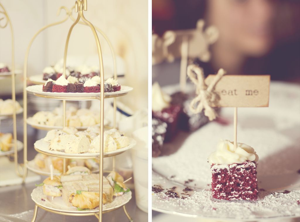 sharing afternoon tea at a victorian inspired bridal shower