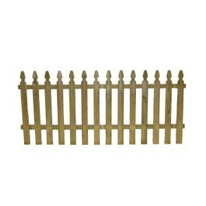 $28 3.5 ft. x 8 ft. Pressure-Treated Pine French Gothic Fence Panel FSFG4245814 at The Home Depot - Mobile