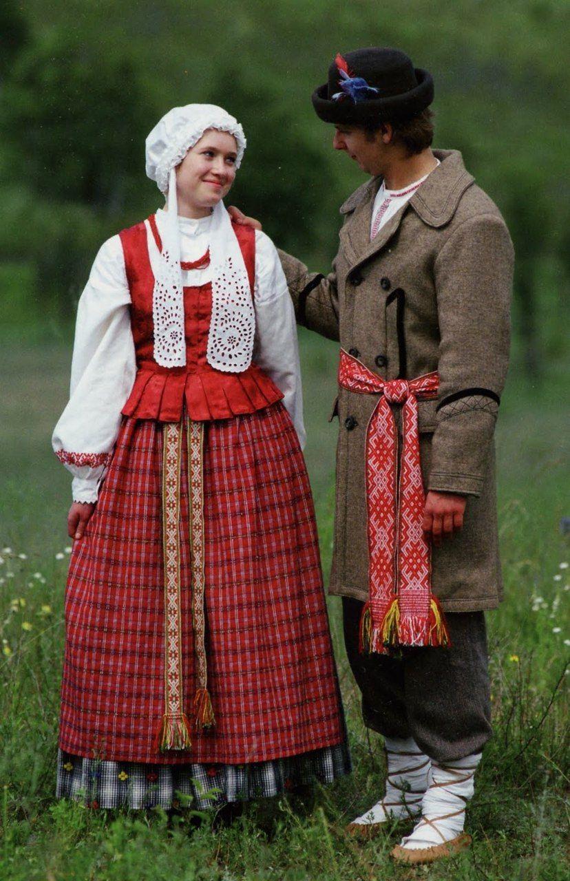 Lithuanian Folk Costumes Lithuania Traje T 237 Pico