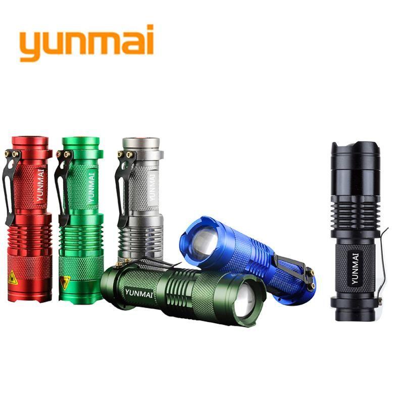 Mini Zoom LED Flashlight Torch CREE XPE Q5 Flash Pen Light Camping Lamp