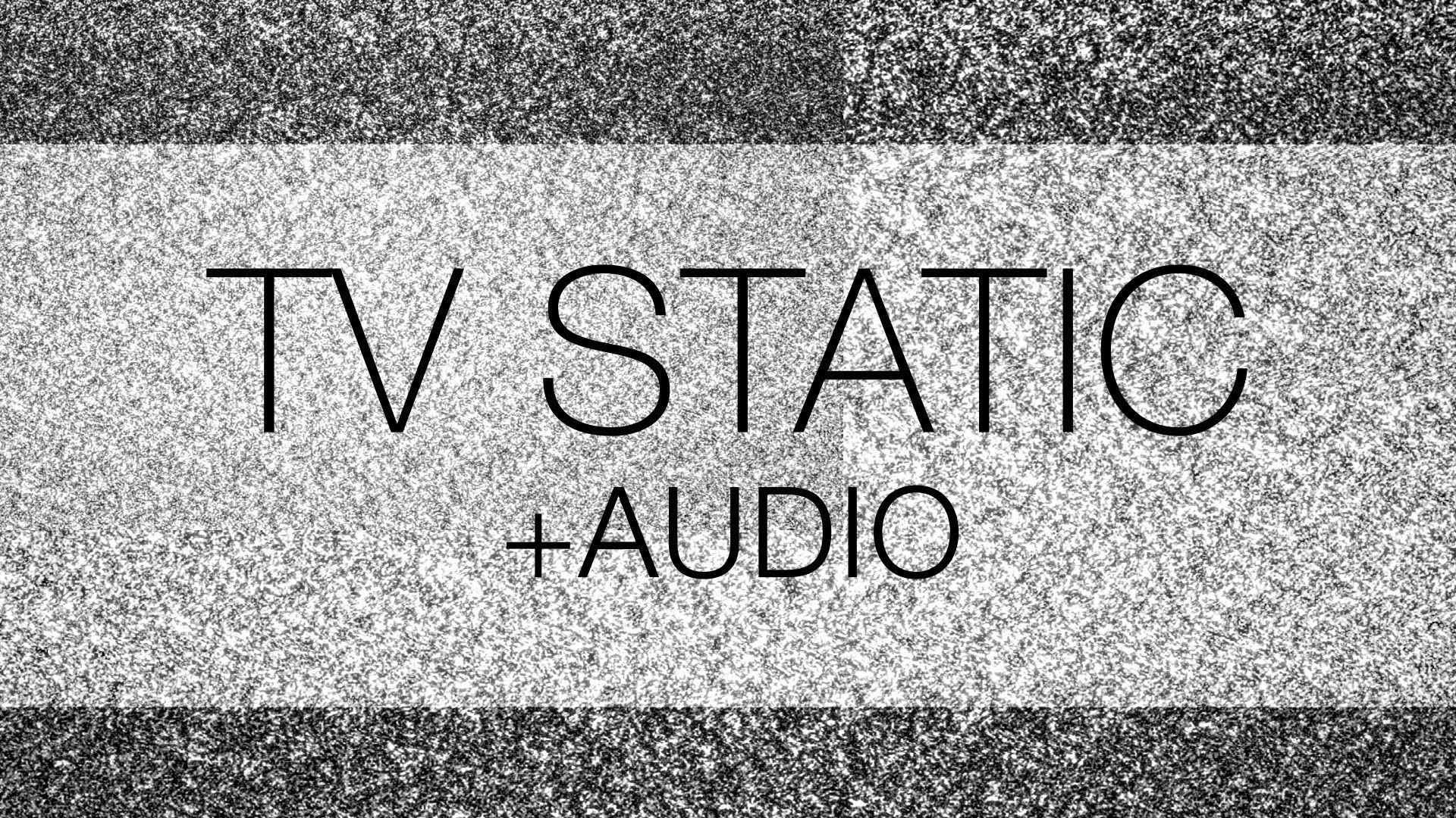Free TV Static Noise HD with Audio | Free Background