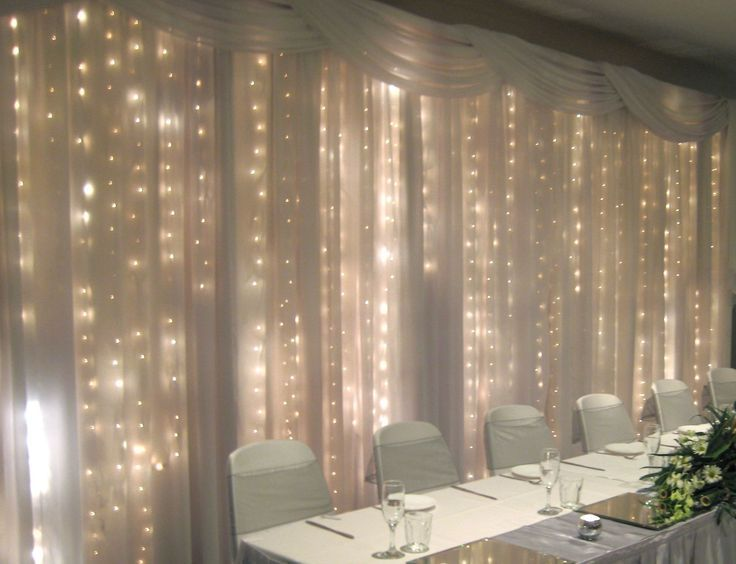 The Fairy Light Backdrop Behind The Head Table Would Be A Nice