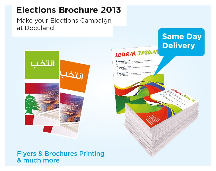 More Ideas From Our  Election Brochure   Our Products