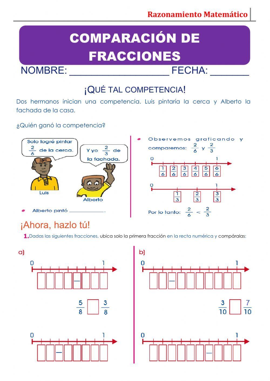Actividad Interactiva De Comparacion De Fracciones Para Grado 4 En 2021 Fracciones Comparacion De Fracciones Actividades Interactivas