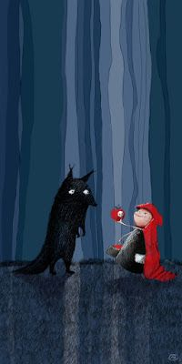 Ranghos Illustration: Il Lupo e Cappuccetto Rosso Little Red Riding Hood and the Wolf