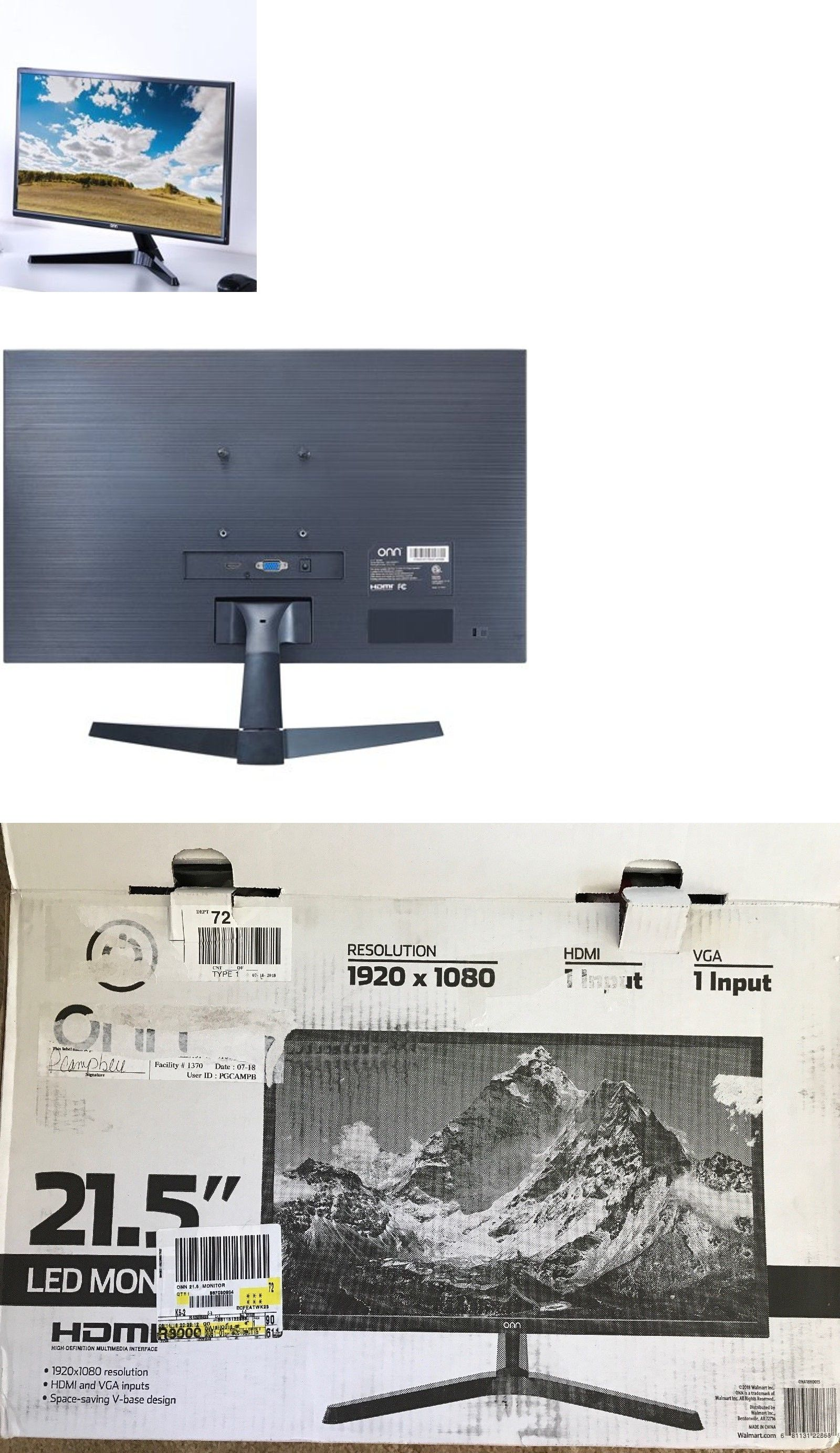 Monitors Projectors and Accs 162497: Onn Ona18ho015 21 5 Lcd Monitor