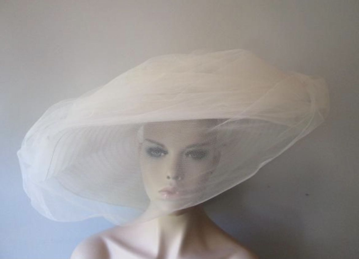 Pin By Lady E Eddington On From Phone In 2021 Vintage Veils Wide Brim Hat Hat With Veil