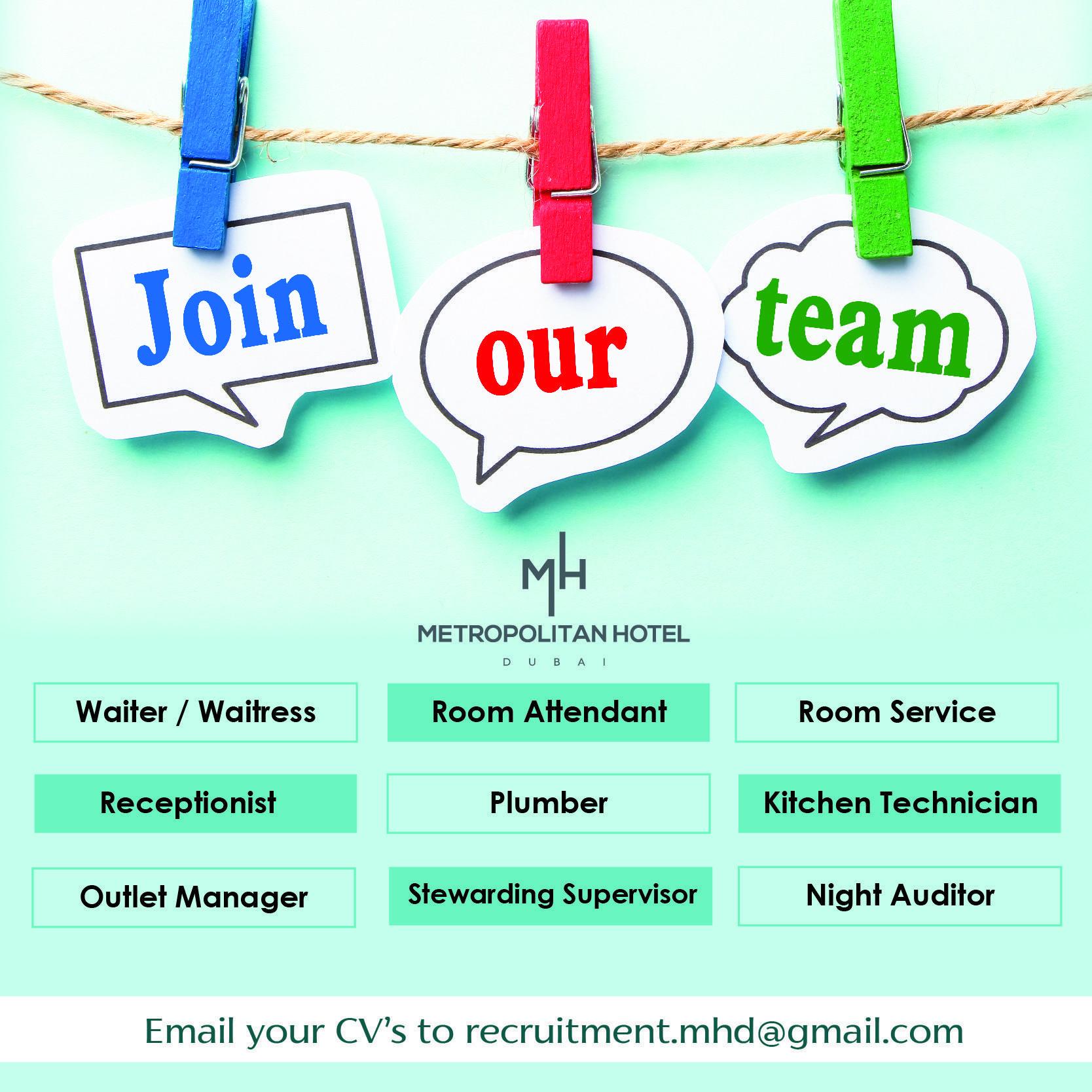 Hospitality professionals job openings dubai job