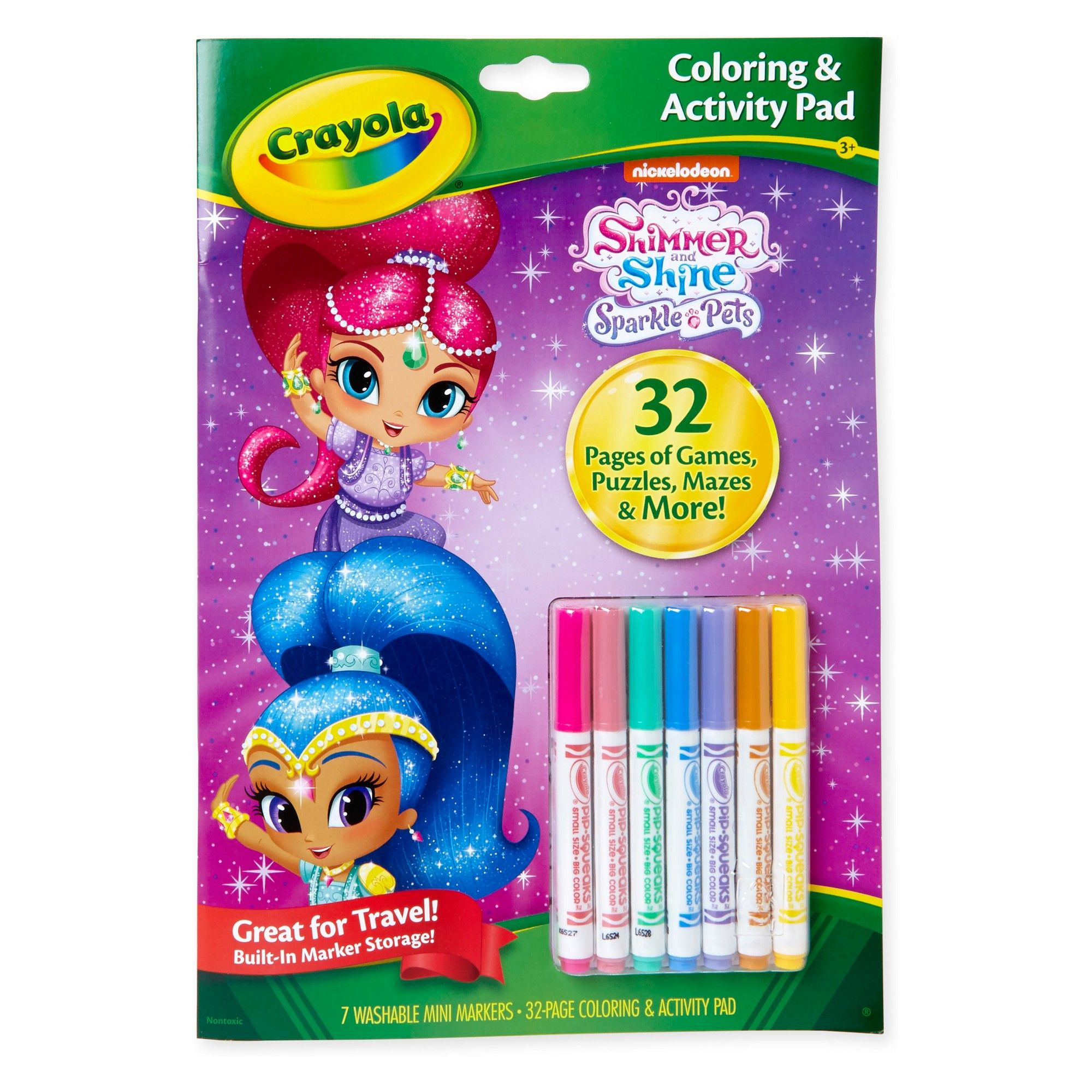 Crayola Shimmer and Shine Coloring & Activity Pad, White ...