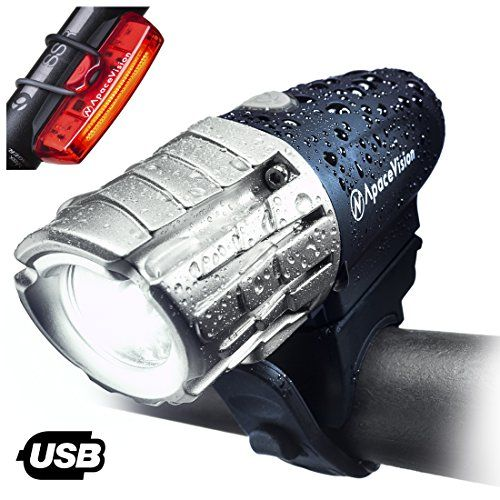 Cheap Eagle Eye Usb Rechargeable Bike Light Set By Apace Powerful 300 Lumens Led Bicycle Headlight And Tail Ligh Bicycle Headlight Bike Lights Bike Lights Led