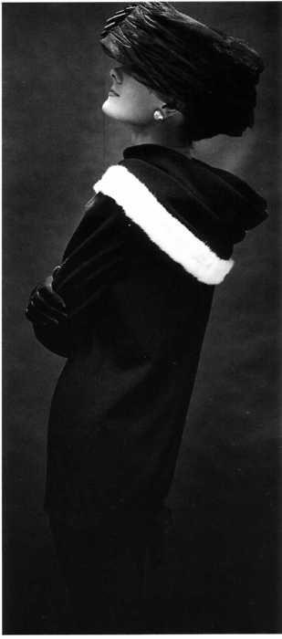White mink trimmed collar by Cristobal Balenciaga -1955