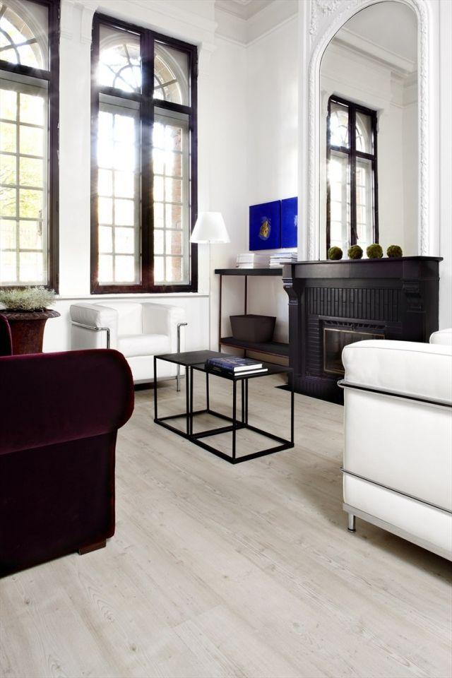 laminat ideen hell weiß wohnzimmer kamin BERRYALLOC haus Pinterest - wohnzimmer ideen kamin