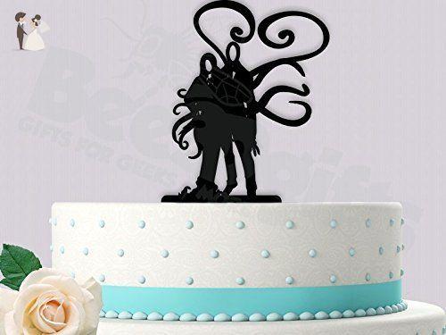 Slenderman and woman wedding cake topper cake and cupcake toppers slenderman and woman wedding cake topper cake and cupcake toppers amazon partner junglespirit Choice Image