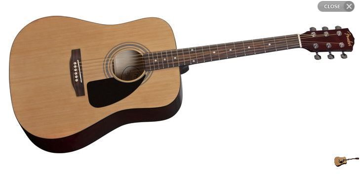 Fender Fa 100 Acoustic Guitar With Gig Bag Natural Studentrate Guitar Guitar Center Acoustic Guitar